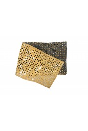 Gianfranco Ferre Women's Olive Green Perforated Leather Scarf: Picture 3