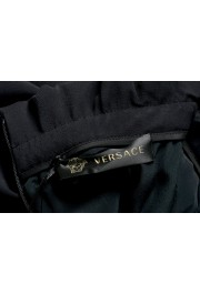 Versace Women's Black Silk Embroidered Straight Pencil Skirt: Picture 4