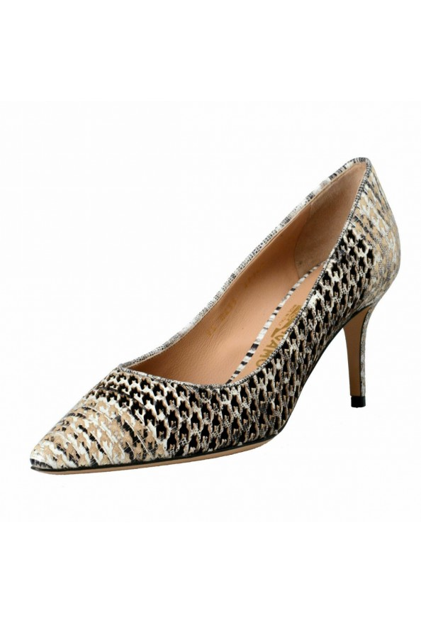 "Salvatore Ferragamo ""Susi 70Pat"" Leather High Heel Pumps Shoes"