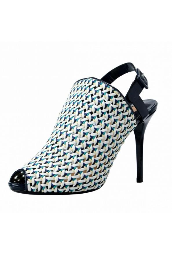 "Salvatore Ferragamo ""Petal"" Leather High Heel Pumps Shoes"
