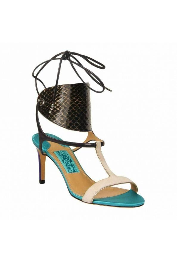 "Salvatore Ferragamo ""Pegan"" Leather High Heel Sandals Shoes"