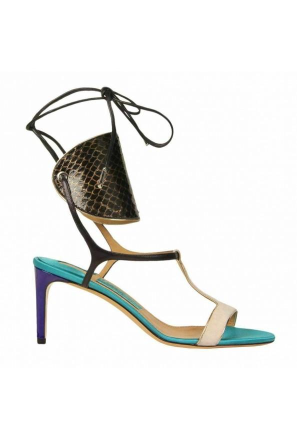 "Salvatore Ferragamo ""Pegan"" Leather High Heel Sandals Shoes: Picture 5"