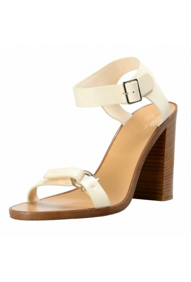 "Salvatore Ferragamo Women's ""Palba"" Leather High Heel Sandals Shoes"