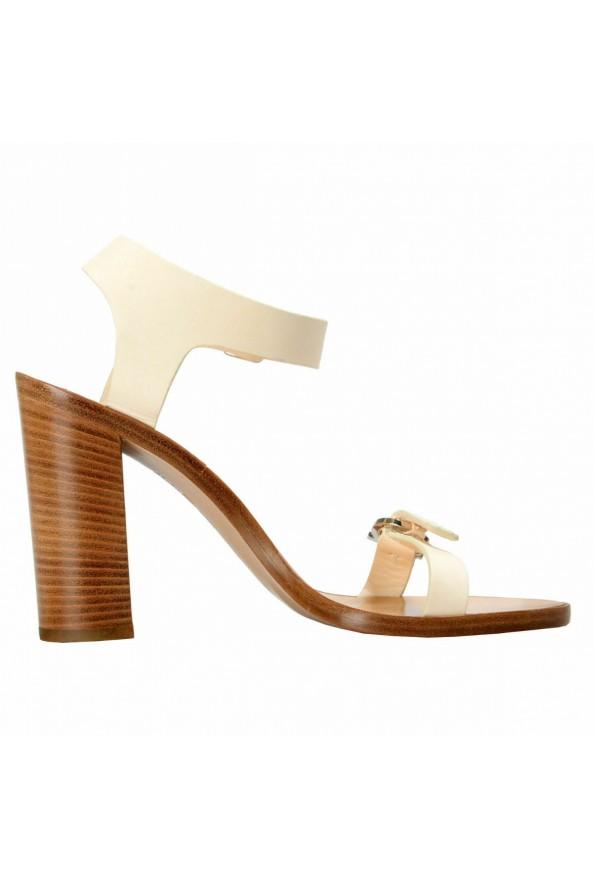 "Salvatore Ferragamo Women's ""Palba"" Leather High Heel Sandals Shoes: Picture 4"
