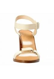 "Salvatore Ferragamo Women's ""Palba"" Leather High Heel Sandals Shoes: Picture 5"