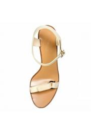"Salvatore Ferragamo Women's ""Palba"" Leather High Heel Sandals Shoes: Picture 6"