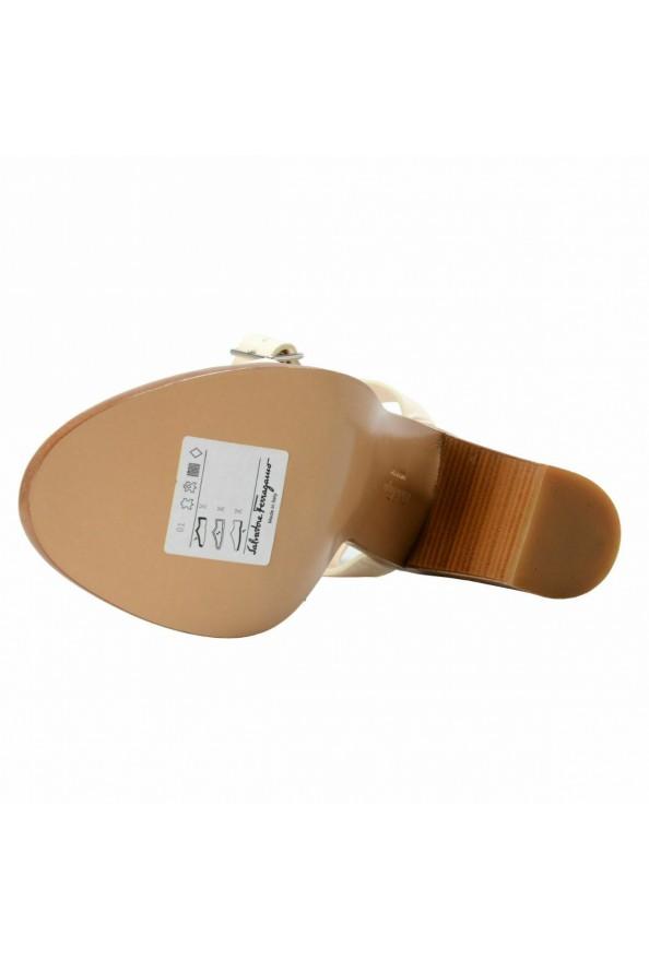 "Salvatore Ferragamo Women's ""Palba"" Leather High Heel Sandals Shoes: Picture 7"