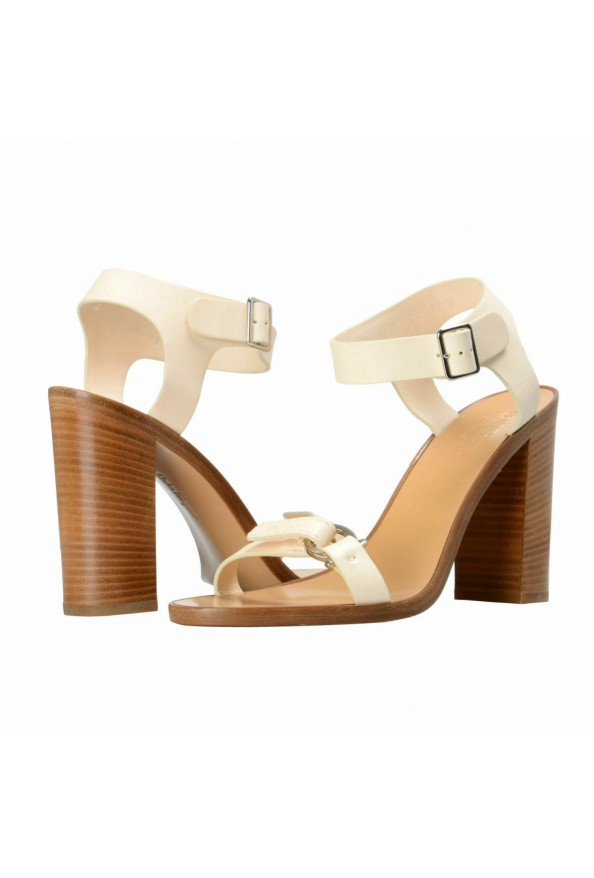 "Salvatore Ferragamo Women's ""Palba"" Leather High Heel Sandals Shoes: Picture 8"