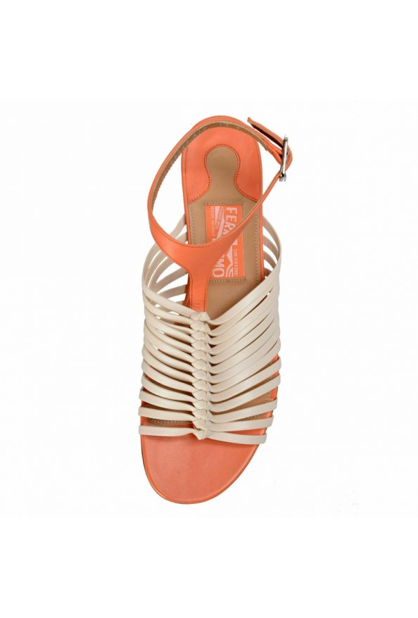 """Salvatore Ferragamo """"Pilly"""" Leather Sandals Shoes: Picture 6"""