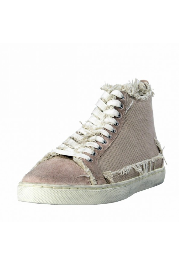 Dolce & Gabbana Men's Canvas Distressed Fashion Sneakers Shoes Keds