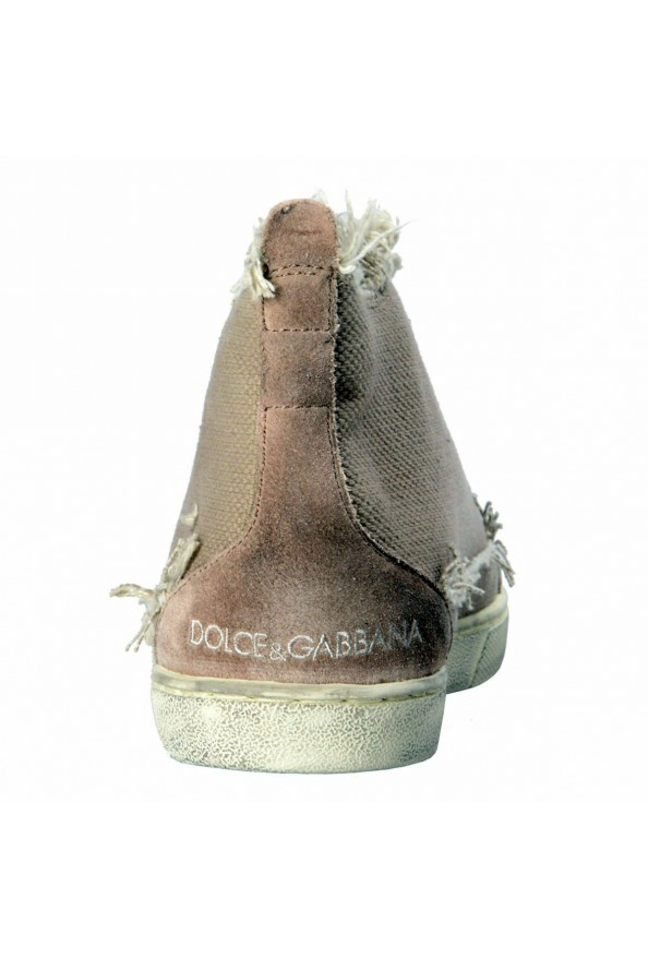 Dolce & Gabbana Men's Canvas Distressed Fashion Sneakers Shoes Keds: Picture 3