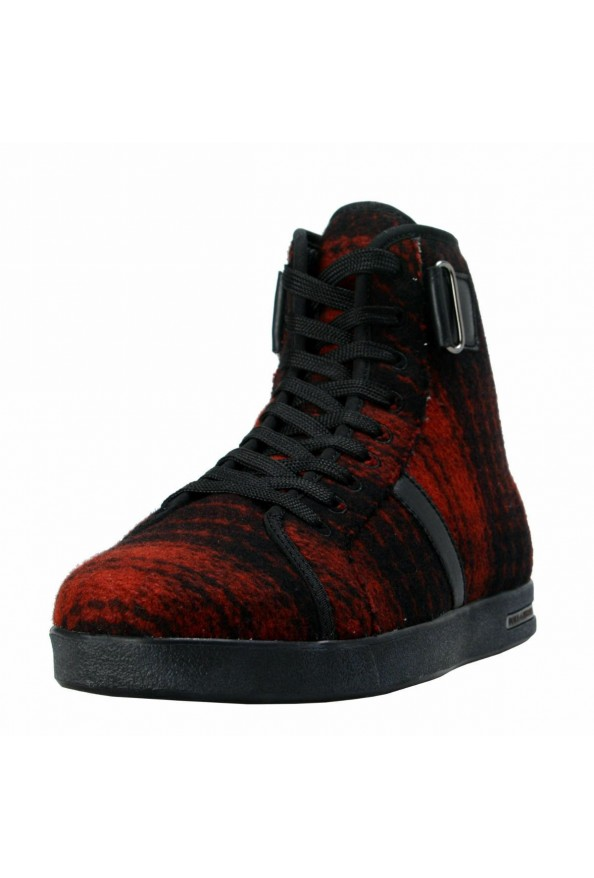 Dolce & Gabbana Women's Canvas Leather Hi Top Fashion Sneakers Shoes
