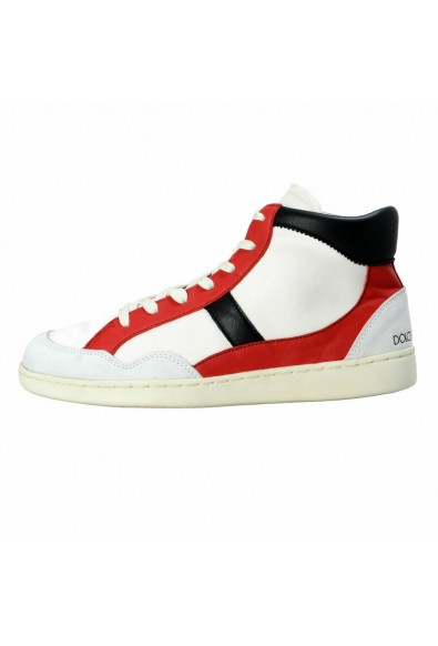 Dolce & Gabbana Men's Canvas Leather Hi Top Sneakers Shoes: Picture 2
