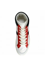 Dolce & Gabbana Men's Canvas Leather Hi Top Sneakers Shoes: Picture 6