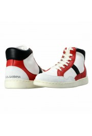 Dolce & Gabbana Men's Canvas Leather Hi Top Sneakers Shoes: Picture 8