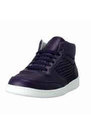 Dolce & Gabbana Women's Purple Leather Fashion Sneakers Shoes