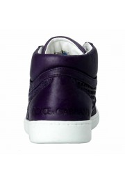 Dolce & Gabbana Women's Purple Leather Fashion Sneakers Shoes: Picture 3