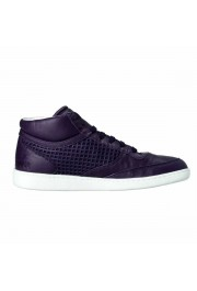 Dolce & Gabbana Women's Purple Leather Fashion Sneakers Shoes: Picture 4