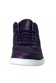 Dolce & Gabbana Women's Purple Leather Fashion Sneakers Shoes: Picture 5