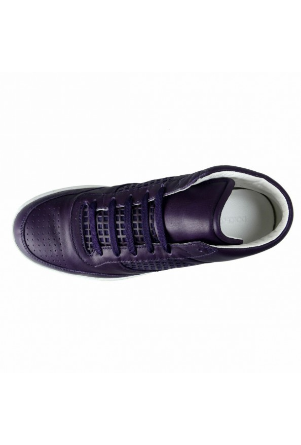 Dolce & Gabbana Women's Purple Leather Fashion Sneakers Shoes: Picture 7