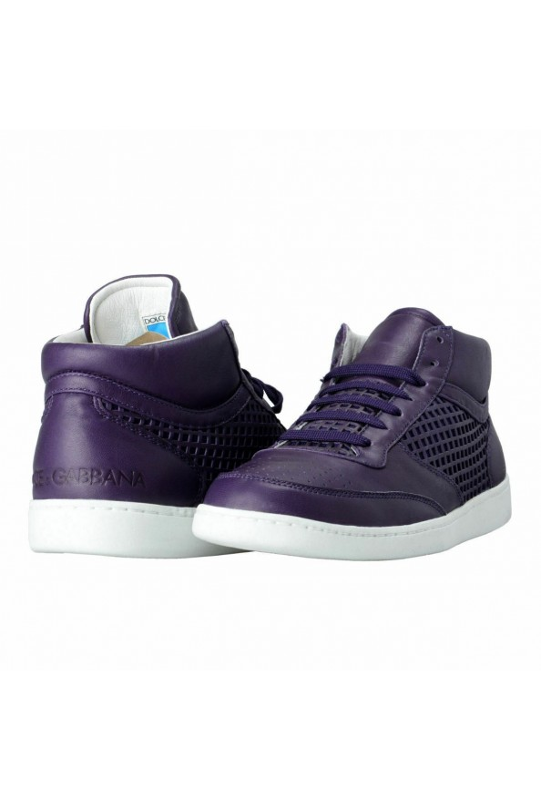 Dolce & Gabbana Women's Purple Leather Fashion Sneakers Shoes: Picture 8