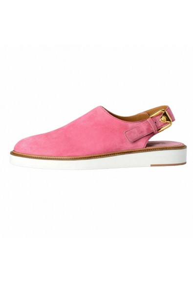 Versace Men's Pink Suede Leather Slingback Sandals Shoes: Picture 2