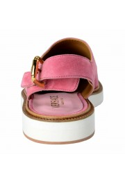 Versace Men's Pink Suede Leather Slingback Sandals Shoes: Picture 3