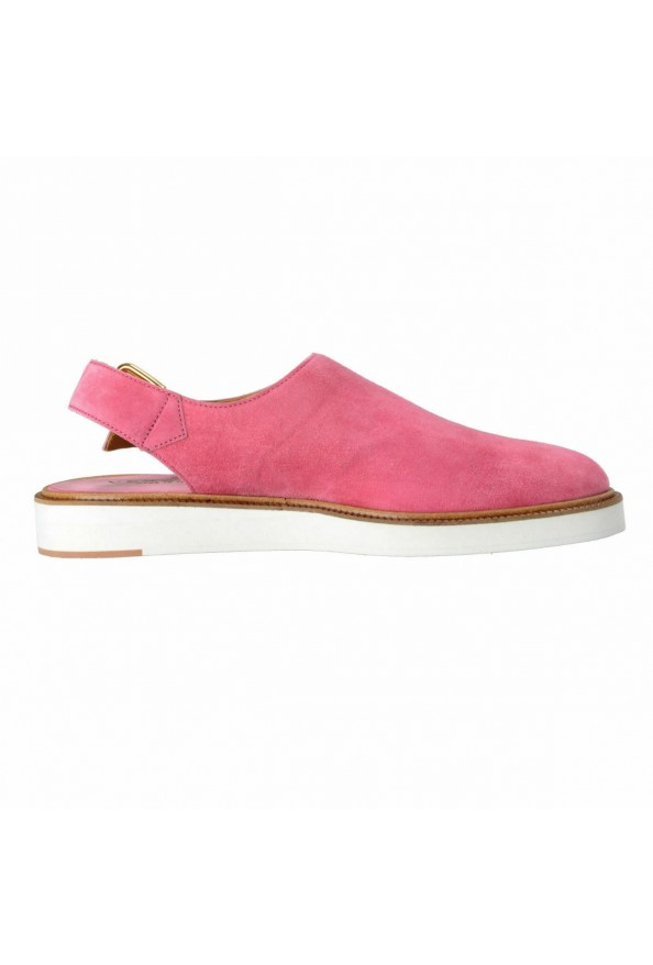 Versace Men's Pink Suede Leather Slingback Sandals Shoes: Picture 4