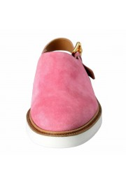 Versace Men's Pink Suede Leather Slingback Sandals Shoes: Picture 5