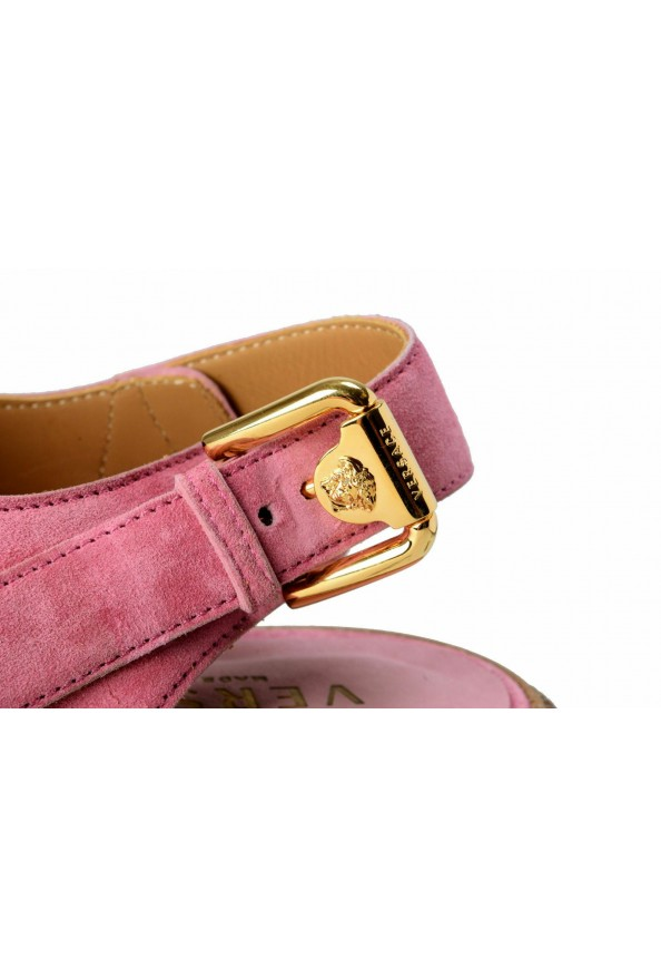 Versace Men's Pink Suede Leather Slingback Sandals Shoes: Picture 7