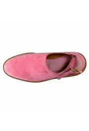 Versace Men's Pink Suede Leather Slingback Sandals Shoes: Picture 9