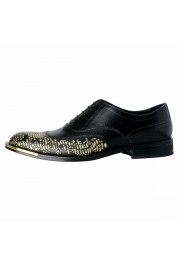 Versace Men's Black Beaded Lace Up Oxfords Shoes: Picture 2