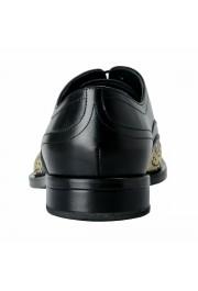 Versace Men's Black Beaded Lace Up Oxfords Shoes: Picture 3