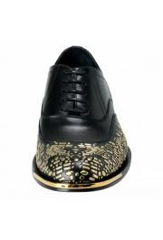 Versace Men's Black Beaded Lace Up Oxfords Shoes: Picture 5