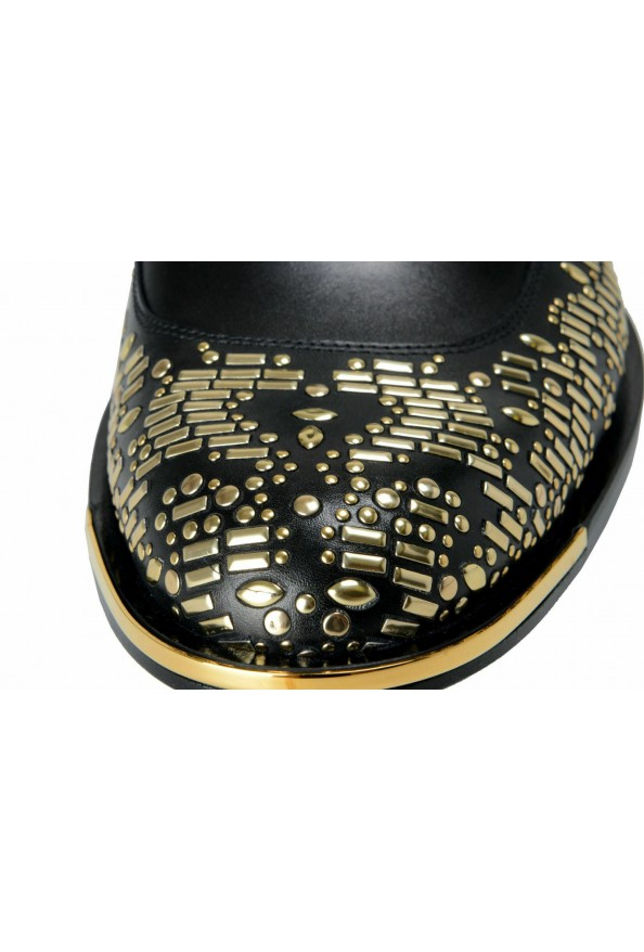 Versace Men's Black Beaded Lace Up Oxfords Shoes: Picture 6
