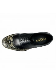 Versace Men's Black Beaded Lace Up Oxfords Shoes: Picture 9