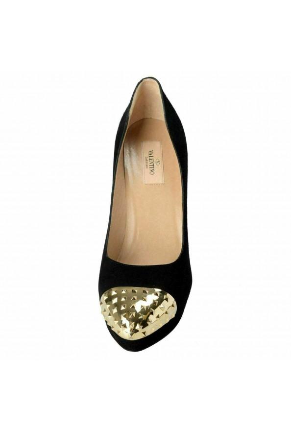 Valentino Garavani Women's Rockstud Suede High Heel Platform Shoes: Picture 5