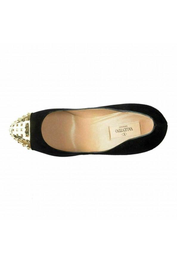 Valentino Garavani Women's Rockstud Suede High Heel Platform Shoes: Picture 8