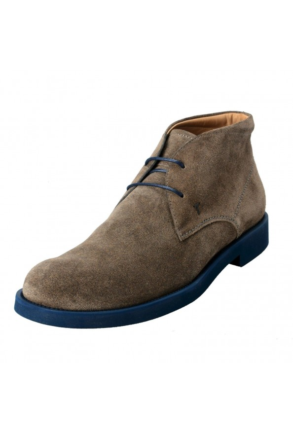 Tod's Men's Suede Gray Polacco Lace Up Ankle Boots Shoes