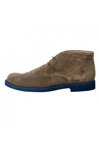 Tod's Men's Suede Gray Polacco Lace Up Ankle Boots Shoes: Picture 2