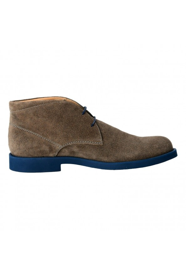 Tod's Men's Suede Gray Polacco Lace Up Ankle Boots Shoes: Picture 4