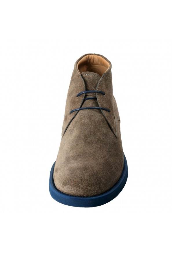 Tod's Men's Suede Gray Polacco Lace Up Ankle Boots Shoes: Picture 5