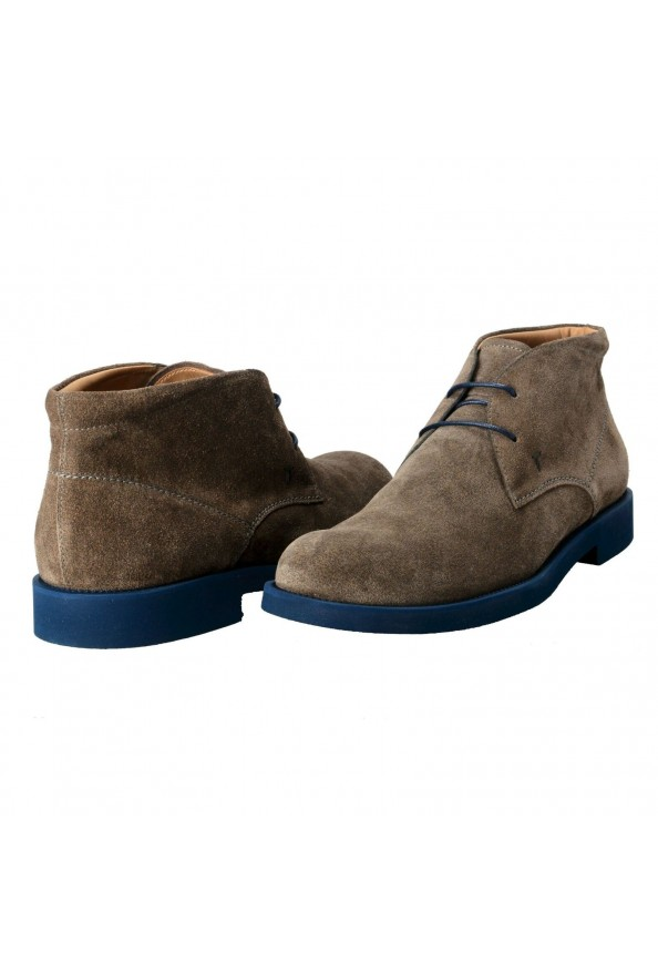 Tod's Men's Suede Gray Polacco Lace Up Ankle Boots Shoes: Picture 8