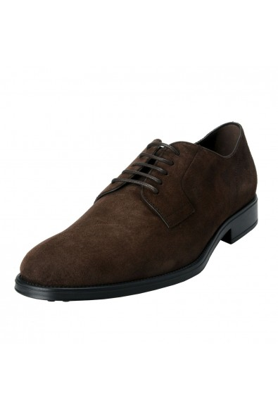 Tod's Men's Suede Brown Derby Fondo Oxfords Shoes