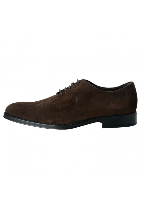 Tod's Men's Suede Brown Derby Fondo Oxfords Shoes: Picture 2