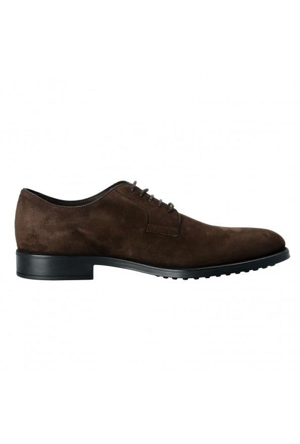 Tod's Men's Suede Brown Derby Fondo Oxfords Shoes: Picture 4