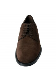 Tod's Men's Suede Brown Derby Fondo Oxfords Shoes: Picture 5
