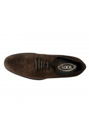 Tod's Men's Suede Brown Derby Fondo Oxfords Shoes: Picture 7