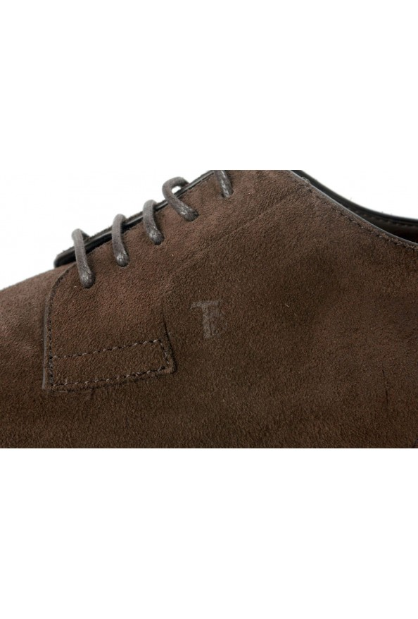 Tod's Men's Suede Brown Derby Fondo Oxfords Shoes: Picture 8
