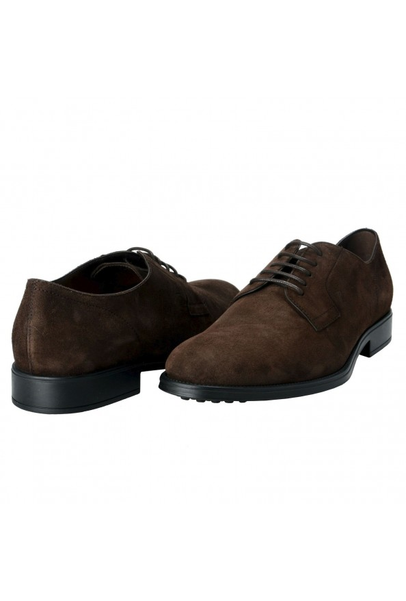 Tod's Men's Suede Brown Derby Fondo Oxfords Shoes: Picture 9